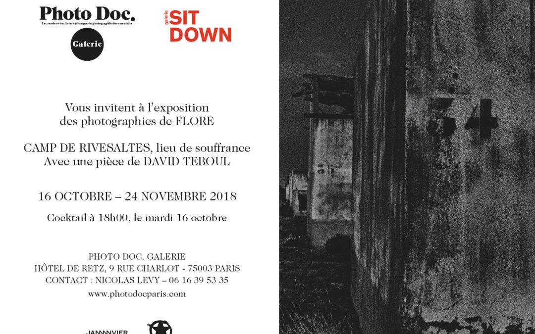 OCTOBRE 2018 – Exposition à la Photo Doc. Galerie / Paris
